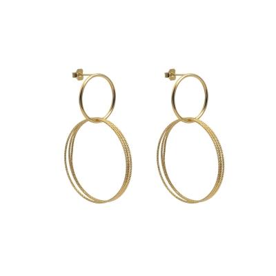 Boucles d'oreilles Double anneaux extra