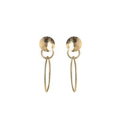 Boucles d'oreilles Dune et double anneaux vrillés