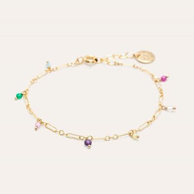 Bracelet Sol - Pampilles multicolores