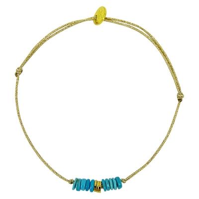 Bracelet Las Vegas - rondelle turquoise