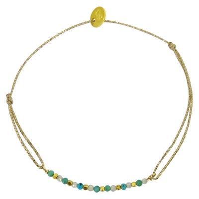 Bracelet Mesa - turquoise et pierre de lune