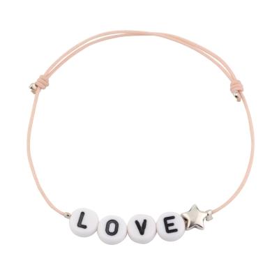 Bracelet Lettres étoile
