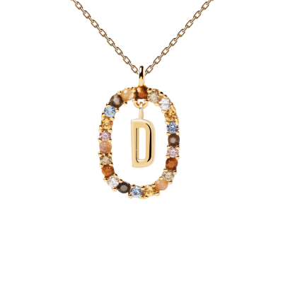 Collier Lettre ovale D Or