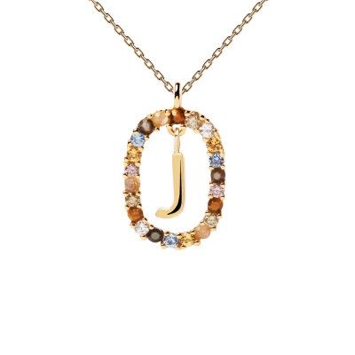Collier Lettre ovale J Or