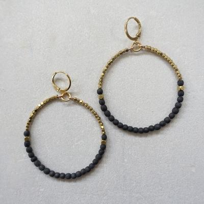 Boucles d'oreilles ARUBA noires