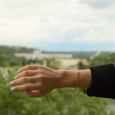Bracelet Clock doré à l'or fin