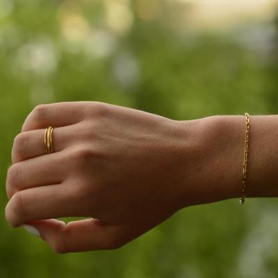 Bracelet petit Dolus doré à l'or fin