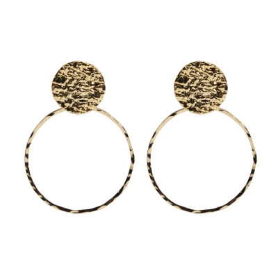 Boucles d'oreilles Palais et anneau