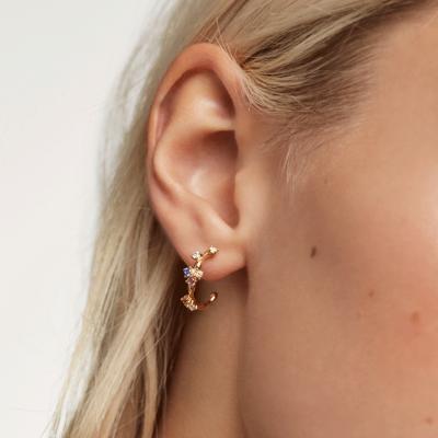 Boucles d'oreilles Five dorées