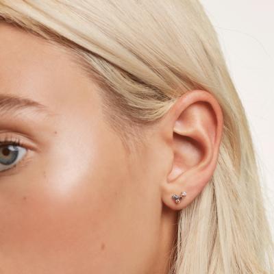 Boucles d'oreilles Fox dorées