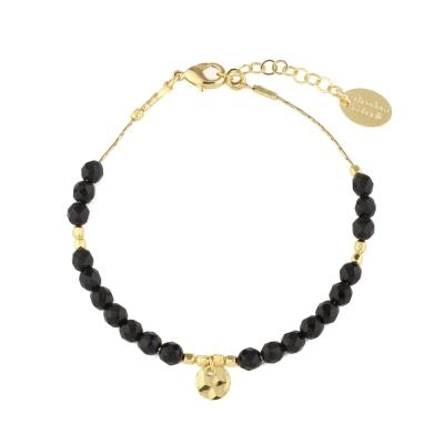 Bracelet Lux Agate noire