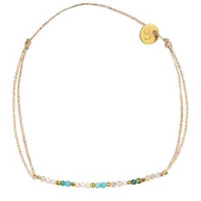 Bracelet Montana - zircon et turquoise