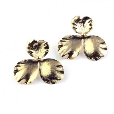 Boucles d'oreilles Jasmine doré à l'or fin