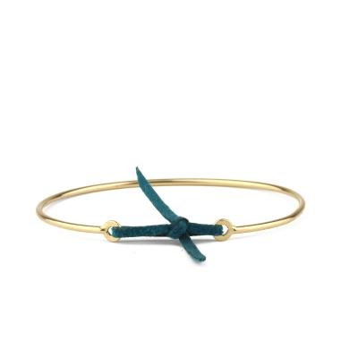 Bracelet jonc Stella nubuck canard