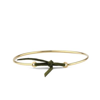 Bracelet jonc Stella nubuck kaki