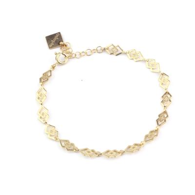 Bracelet Twin doré à l'or fin