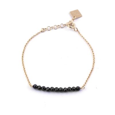 Bracelet Mina 13 spinelle noire