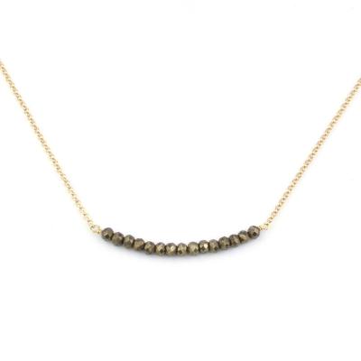 Collier Mina 13 pyrite