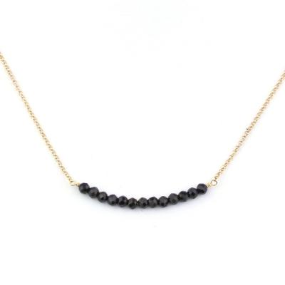 Collier Mina 13 spinelles noires