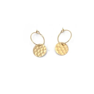 Petites boucles d'oreilles Syracuse dorées à l'or fin