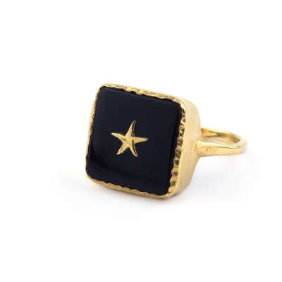 Bague Stella étoile onyx