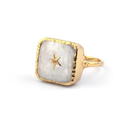 Bague Stella étoile pierre de lune