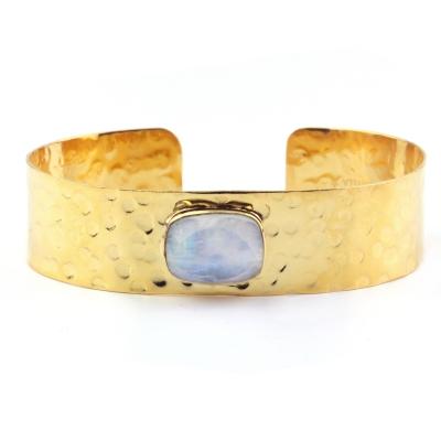 Bracelet manchette Porto Vecchio pierre de lune