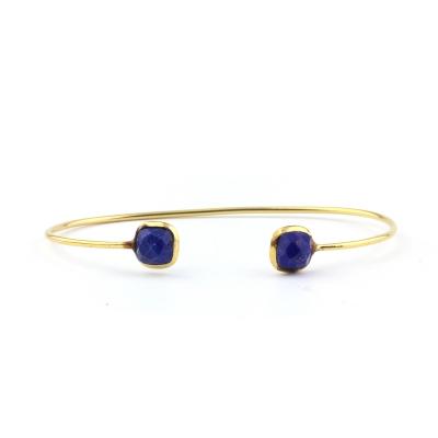 Bracelet jonc Riviera lapis lazuli