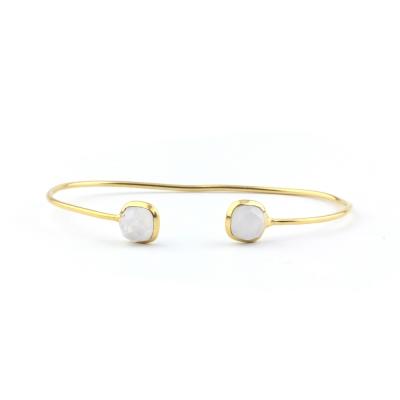 Bracelet jonc Riviera pierre de lune