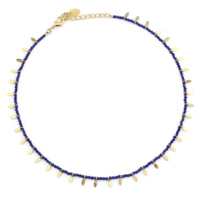 Collier Indiana lapis lazuli