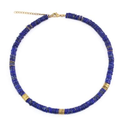 Collier Surfer lapis lazuli