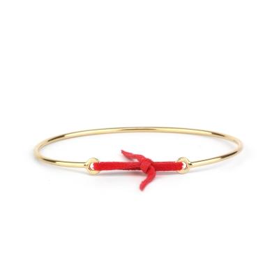 Bracelet jonc Stella nubuck rouge