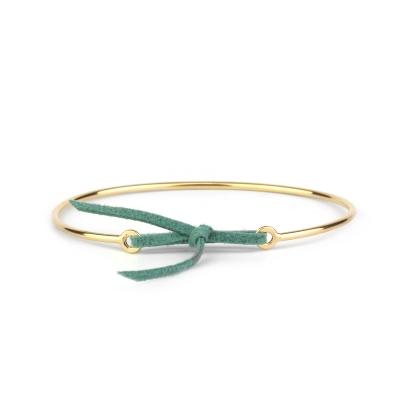 Bracelet jonc Stella nubuck vert