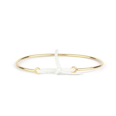 Bracelet jonc Stella nubuck blanc