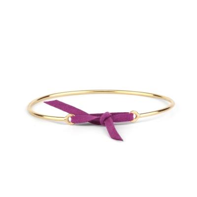 Bracelet jonc Stella nubuck violet