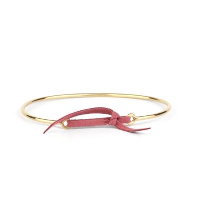 Bracelet jonc Stella nubuck rose