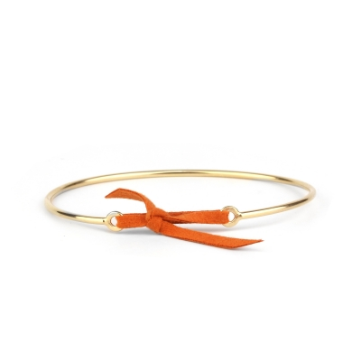 Bracelet jonc Stella nubuck orange