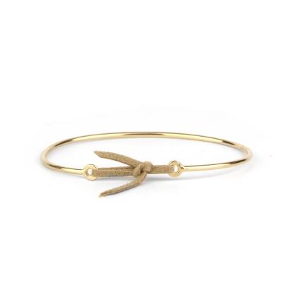 Bracelet jonc Stella nubuck beige