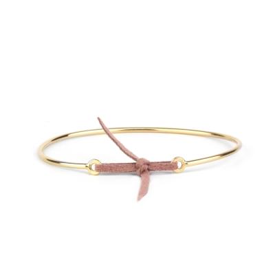 Bracelet jonc Stella nubuck taupe