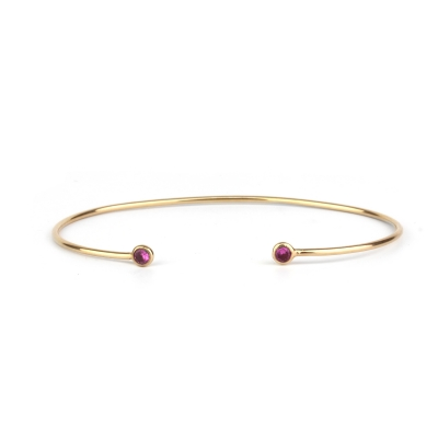 Bracelet jonc Constellation rose
