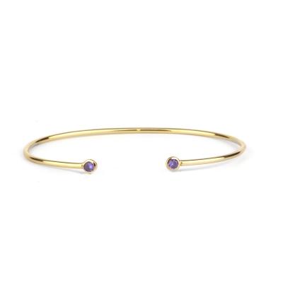 Bracelet jonc Constellation violet