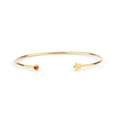 Bracelet jonc Constellation Etoile orange