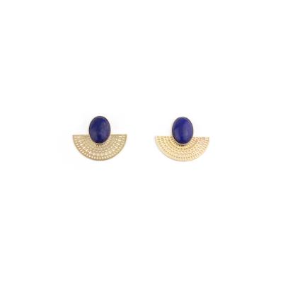 Boucles d'oreilles Aztèque lapis lazuli