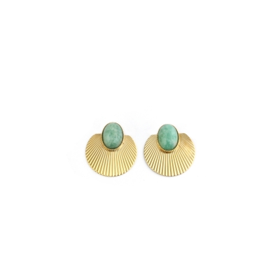 Boucles d'oreilles Sunset amazonite