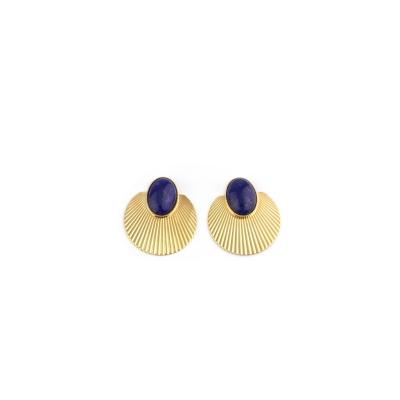 Boucles d'oreilles Sunset lapis lazuli