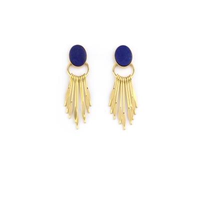 Boucles d'oreilles Pierre et Griffe lapis lazuli