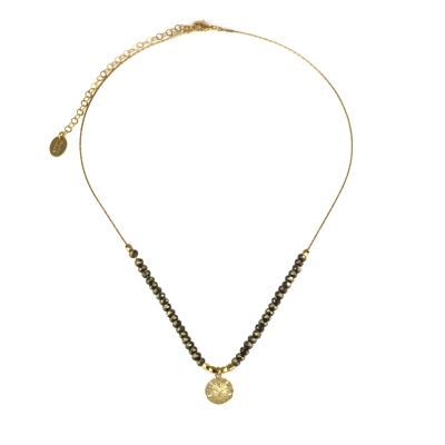 Collier Cuzco médaille pyrite