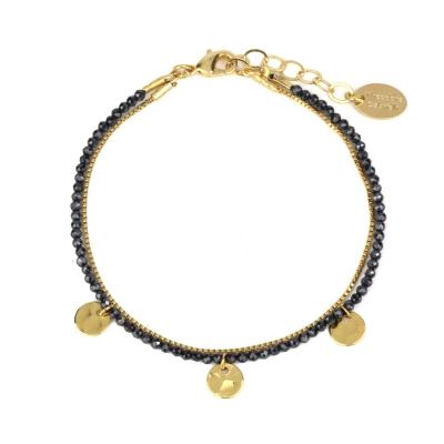 Bracelet Lima spinelle noire