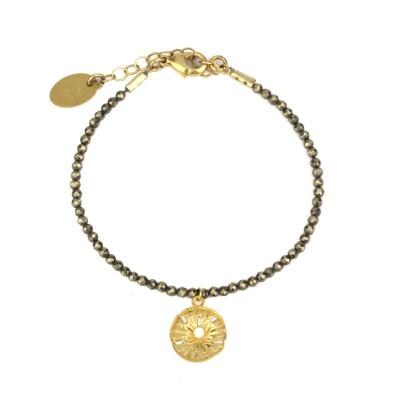Bracelet Indian Song pyrite