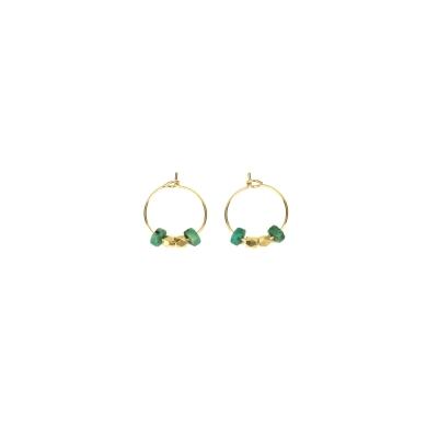 Boucles d'oreilles Cuzco XS jaspe africaine